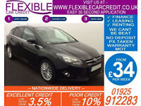 2014 FORD FOCUS 1.6 TDCI ZETEC GOOD / BAD CREDIT CAR FINANCE FROM 34 P/WK