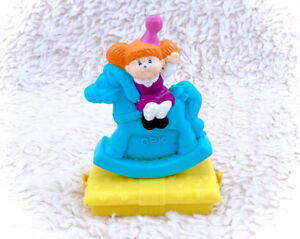 Cabbage Patch Kids Vintage See Saw Blue Rocking Horse Push Toy 1