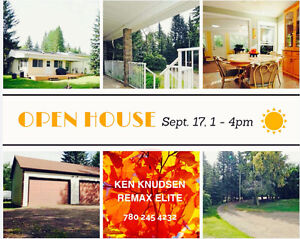 OPEN HOUSE SATURDAY SEPT.17, 1-4PM WYE RD ACREAGE!