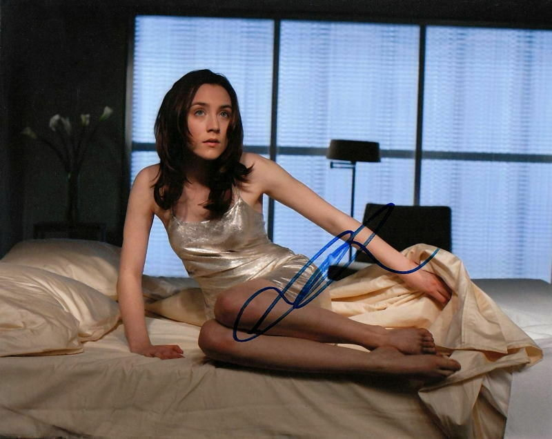 SAOIRSE RONAN.. Barefoot Beauty on Bed - SIGNED