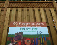 Landscaping, Deck, Fence, Gardens and other outdoor services