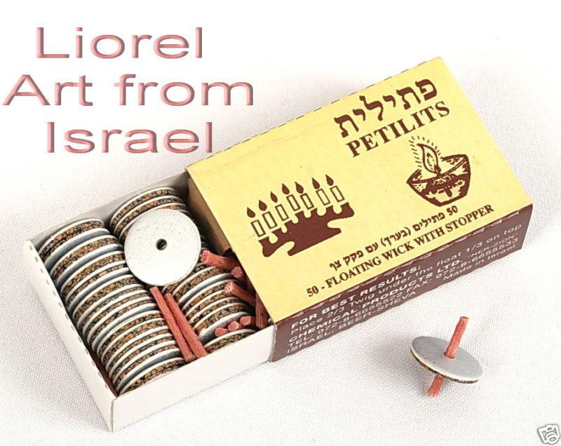 Lot 10 Packs Floating OIL WICKS Hanukkah/Shabbos Shabbat Jewish Menorah Candles