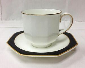 villeroy boch black pearl teacup saucer bone china he. Black Bedroom Furniture Sets. Home Design Ideas