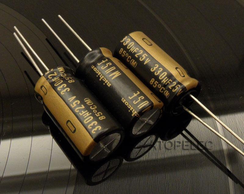 1pc NEW Nichicon MUSE KZ 330uF/25V Electrolytic Capacitors Hi-Fi Audio