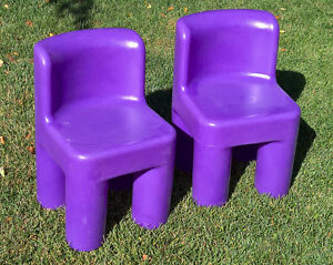 Set of 2 - Little Tikes Purple Children's Chairs