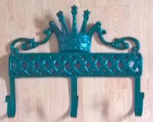 Green Cast Iron Wall Hooks