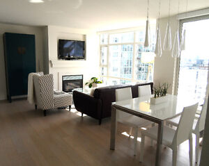 Yaletown Furnished Modern & Spacious 2BR/2BA w/ Views!(Reduced)