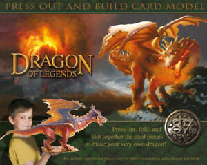 Dragon of Legends press out and build model - NEW in box