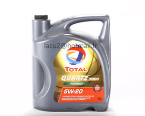 Huile synthétique Total 5W20 5litres neuf