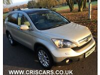 Honda Cr-V 2.2 i-CDTi EX Station Wagon kn57fzt 5dr£5,000 PANORAMIC. ROOF,LEATHER,2 OWNERS