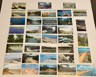 36 Vintage and Classic Postcards of Lakes, Beaches, & Waterways