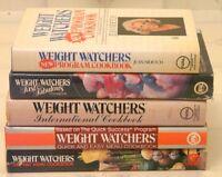 5 RETRO WEIGHT WATCHERS COOKBOOKS - AS NEW - 4.00 EACH