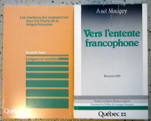 Books on bilingualism & linguistic planning in Canada