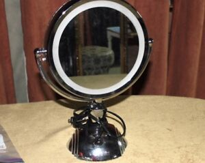 Conair Makeup Mirror Double Sided Lighted Telescopic Magnified