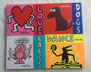 Set of 4 Keith Harring Hardcover Books -Dance, Love, Babies,Dogs