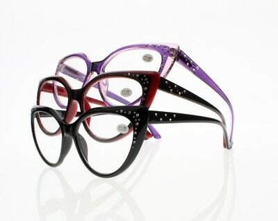 New Big Butterfly Cat Eye Rhinestones Reading Glasses Spring Hinges  1 00  4 00