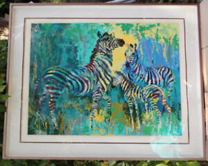 THE ZEBRA FAMILYnumbered print. by Neiman