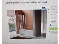 Conertina right four fold bath bath screen