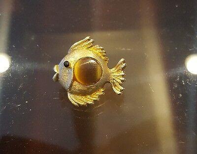 Vintage Signed Jj Jonette Fish Pin Brooch J J