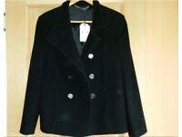 NEW Austin Reed black jacket/coat size 12