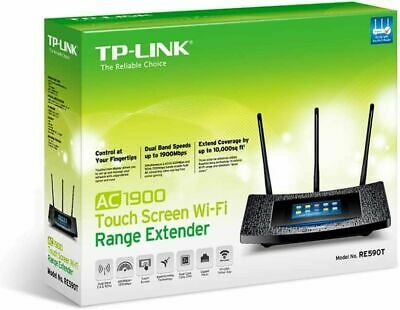 TP-Link AC1900 Desktop Wi-Fi Range Extender w/ Touchscreen Interface (RE590T)