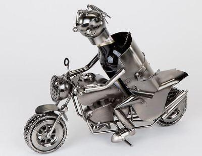 614421 Bier Flaschenhalter Flaschen Halter Motorrad 30cm aus lackiertem Eisen
