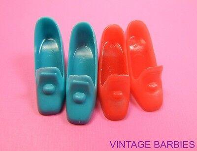 (2) Pair Barbie Doll Pilgram Shoes / Heels Mint ~ Vintage