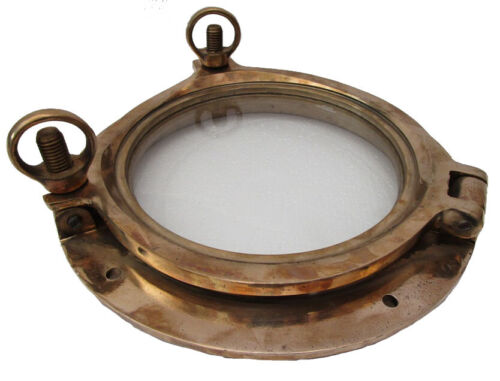 "Marine BRASS PORT HOLE / Window / Porthole - 9.75"" INCHES - 100% SATISFACTION"