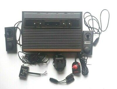 Atari Video Computer System w/ Controllers 17 Games, Case, Owner & Game Manuals