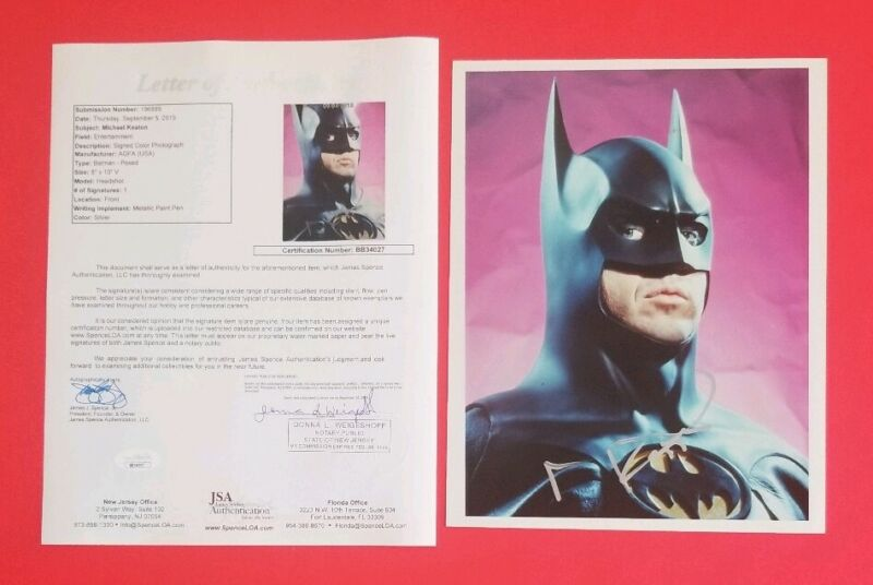 "Ultra Rare- Michael Keaton Signed Batman 8""x10"" Photo Certified With Jsa Coa Loa"