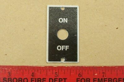 New Original Atlas Craftsman 10 12 Lathe On Off Motor Switch Plate Part 41-43a