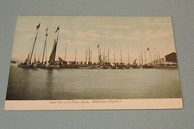 1910 Era White Wings Yacht Club at Atlantic City New Jersey Postcard Party Boats ()