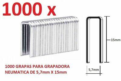 1000 GRAPAS DE 5,7mm X 15mm PARA GRAPADORA NEUMATICA PARKSIDE PDT40D3 CONTRARR