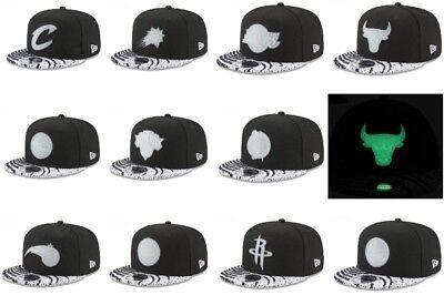 New Era NBA Boost Glow In Dark Yeezy 9FIFTY 950 White Strap Back Cap Hat -