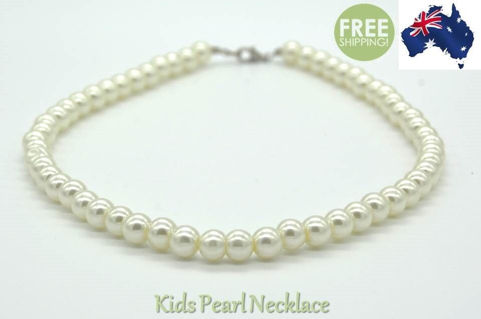 Jewellery - Kids Pearl Necklace Baby Girl Princess Costume Jewellery Formal Beads Party