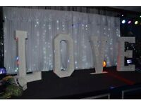 GIANT LIGHT UP LOVE LETTERS , CANDY FERRIS WHEEL & CHAIR COVER HIRE - COVENTRY & WEST MIDLANDS