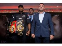 6x Anthony Joshua boxing tickets £75 each