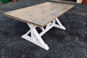 Custom Dining Tables with Matching Bench