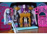 Monster High 13 Wishes Room Party and Spectra Vondergeist & Abbey Bominable