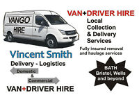 Furniture Removals, VAN+DRIVER HIRE, Collection & Delivery, Moving House, Flat, Man and Van Service