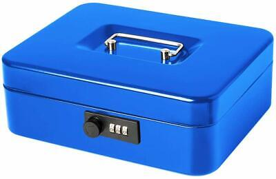Jssmst Large Cash Box With Combination Lock Durable Metal Cash Box With Money