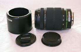 Pentax smc DA 55-300mm f/4.0-5.8 ED zoom DSLR lens, pouch, K mount. May swap for Sigma 10-20mm