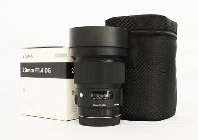 # Sigma 20mm F1.4 DG HSM Art Lens for Canon S/N 52193875