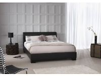 Delivery 7 Days a week Leather Double Bed + 25cm Memoryfoam/Orthopaedic Mattress Pay on Delivery