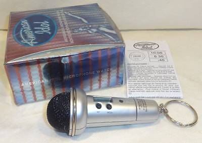 # AVON AMERICAN IDOL MICROPHONE WATCH KEYRING WITH VOICE RECORDER ~ VHTF ~ NEW