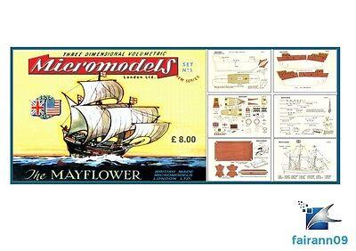 1957 Vintage Original Micromodels Set No.1 Pilgrim Fathers Mayflower 4/- SEALED