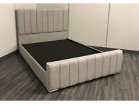 🔴🔵 MALIA GREY IN STOCK, BED FRAME ONLY 145£, MATTRESS ON OPTION