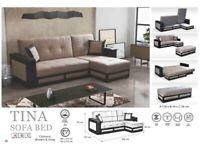 🌷🌷CLEARANCE STOCK MUST GO🌷🌷BRAND NEW TINA SOFA BED🌷🌷AVAILABLE IN STOCK🌷🌷