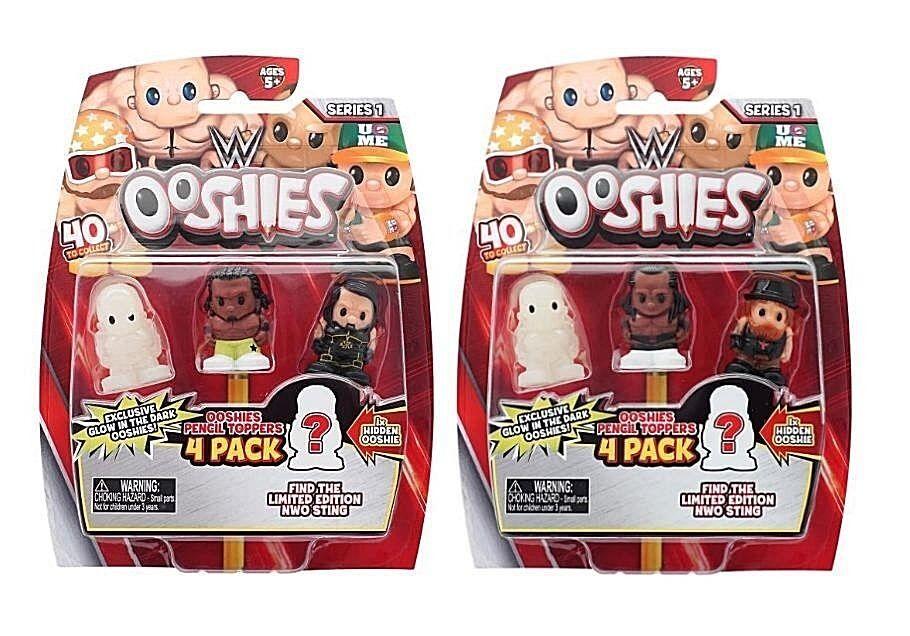 WWE ooshies Série 1 Figura De Luta Livre Lápis Toppers 5 X Sacos Cego