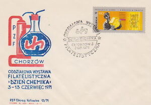 Poland postmark CHORZOW - chemistry chemist day (analogous) - <span itemprop=availableAtOrFrom>Bystra Slaska, Polska</span> - Poland postmark CHORZOW - chemistry chemist day (analogous) - Bystra Slaska, Polska